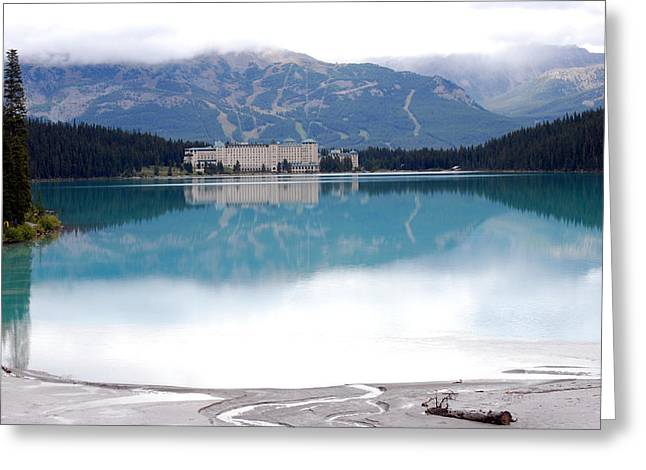The Chateau At Lake Louise Greeting Card
