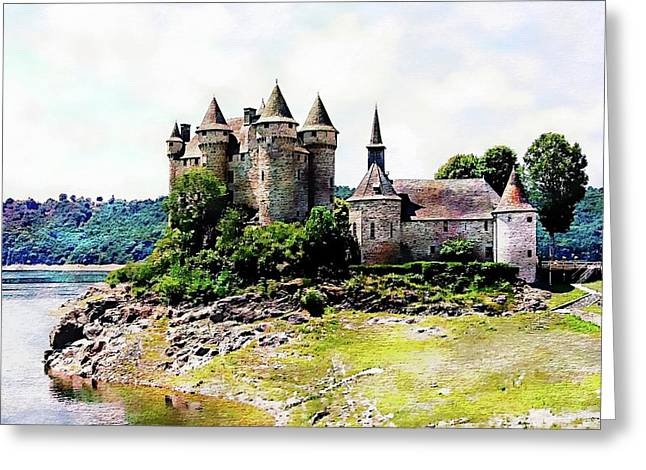 Greeting Card featuring the photograph The Chateau De Val by Joseph Hendrix