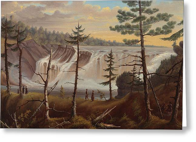 The Chaudiere Falls Greeting Card by Joseph Legare