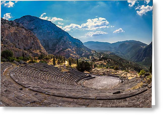 Greeting Card featuring the photograph The Cheap Seats At Delphi by Micah Goff