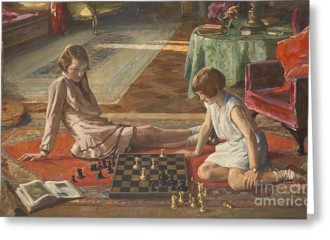 The Chess Players Greeting Card