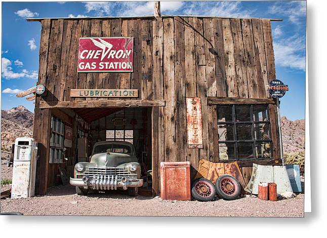 The Chevron Station  Greeting Card