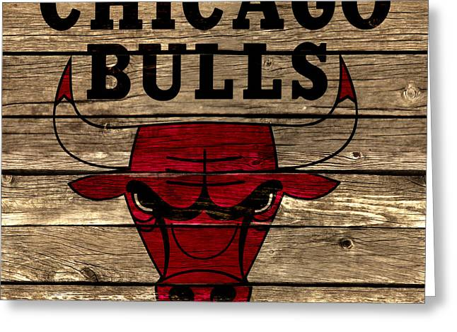 The Chicago Bulls 2a Greeting Card by Brian Reaves