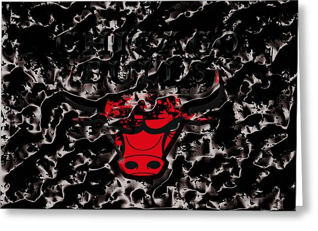 The Chicago Bulls 3e Greeting Card by Brian Reaves