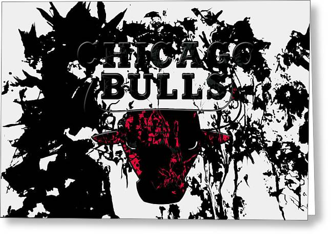 The Chicago Bulls  Greeting Card by Brian Reaves