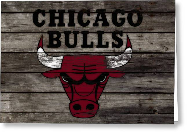 The Chicago Bulls W10 Greeting Card