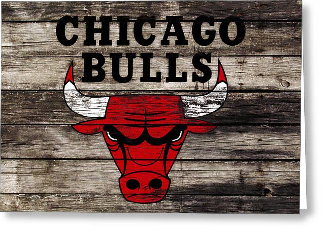 The Chicago Bulls W12 Greeting Card