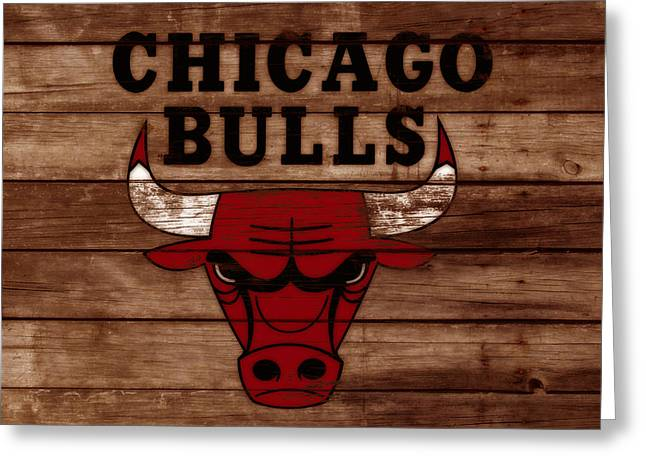 The Chicago Bulls W8 Greeting Card