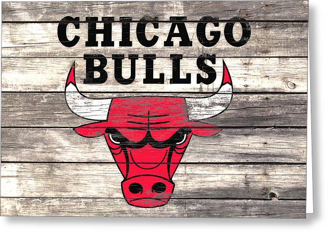The Chicago Bulls W9 Greeting Card