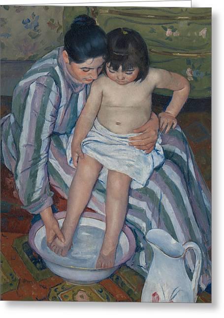 The Child's Bath Greeting Card by Mary Cassatt