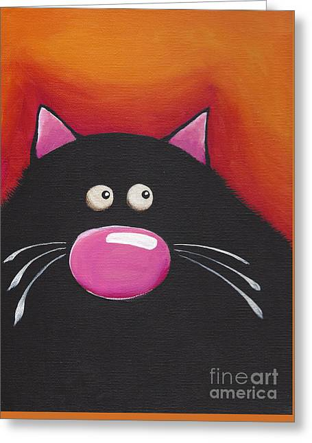 The Chilling Cat  Greeting Card by Lucia Stewart