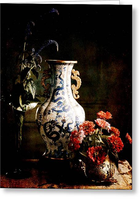 The Chinese Vase Greeting Card by Sarah Vernon