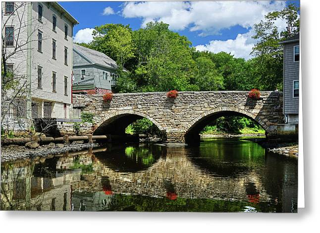 Greeting Card featuring the photograph The Choate Bridge by Wayne Marshall Chase