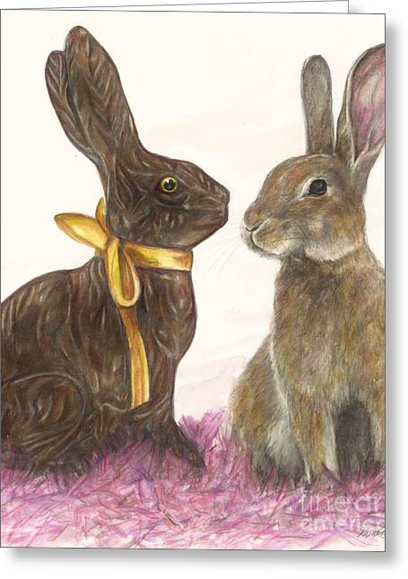 The Chocolate Imposter Greeting Card by Meagan  Visser