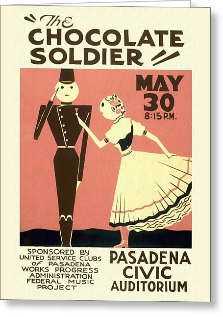 The Chocolate Soldier - Vintage Poster Restored Greeting Card