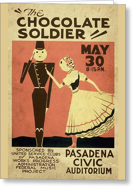 The Chocolate Soldier - Vintage Poster Vintagelized Greeting Card
