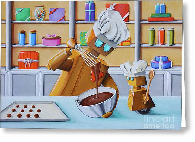 The Chocolatiers Greeting Card by Cindy Thornton
