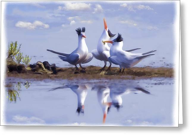 Tern Digital Art Greeting Cards - The chorus Greeting Card by Thanh Thuy Nguyen