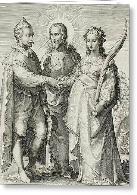 The Christian Marriage Greeting Card by Jan Saenredam
