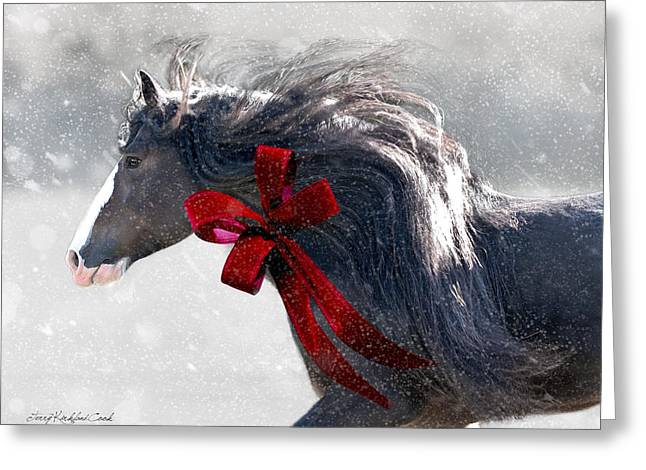 The Christmas Beau Greeting Card by Terry Kirkland Cook