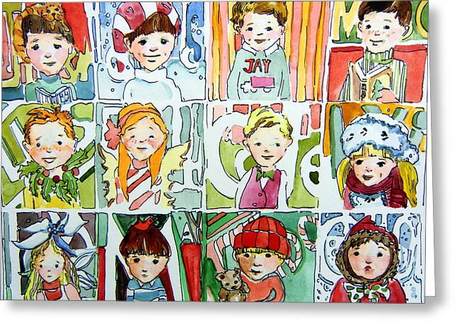 The Christmas Cousins Greeting Card by Mindy Newman