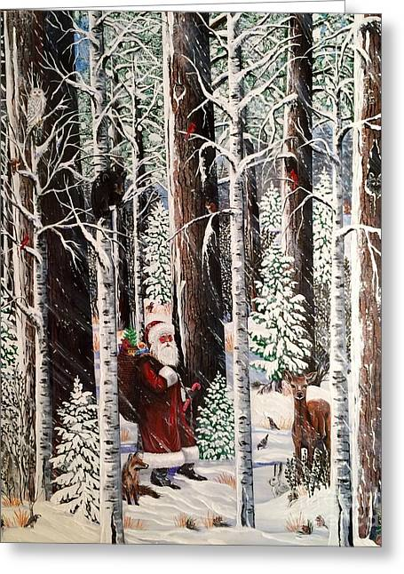 The Christmas Forest Visitor Greeting Card