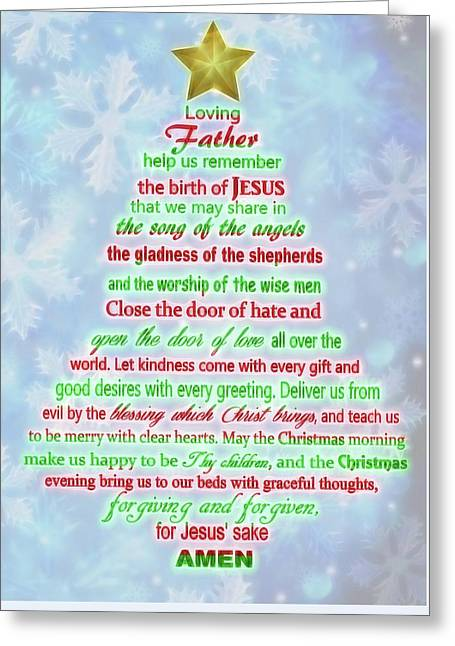 The Christmas Prayer Greeting Card
