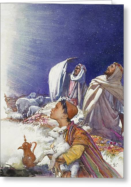 The Christmas Story The Shepherds' Tale Greeting Card