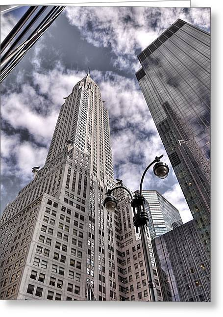 The Chrysler Building In Nyc Usa Greeting Card by Robert Ponzoni