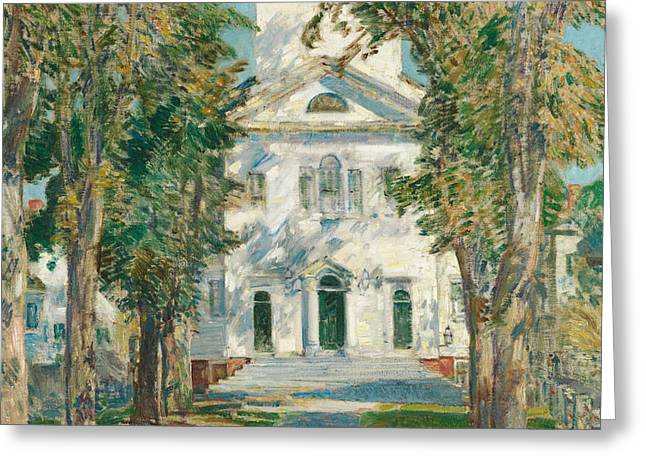 The Church At Gloucester, 1918 Greeting Card by Childe Hassam