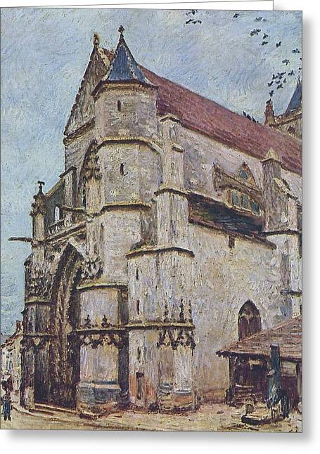 The Church At Moret In Winter Greeting Card by MotionAge Designs