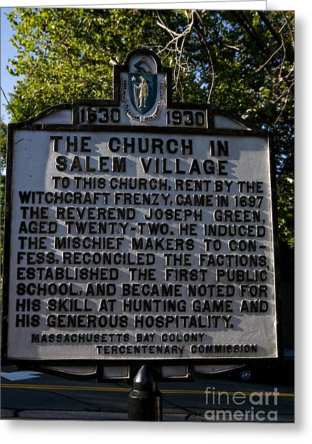 The Church In Salem Village Greeting Card