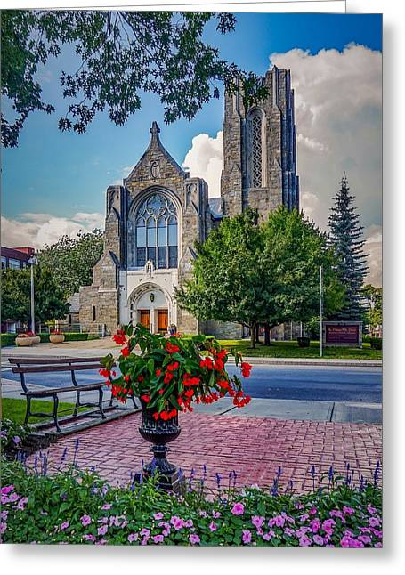 The Church In Summer Greeting Card