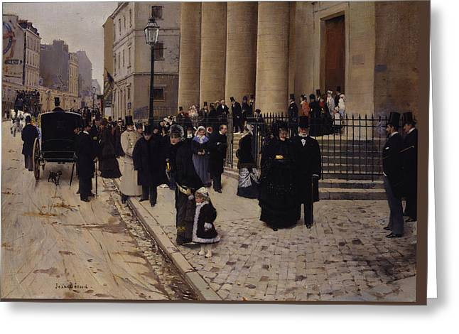 The Church Of Saint-philippe-du-roule Paris Greeting Card by Jean Beraud