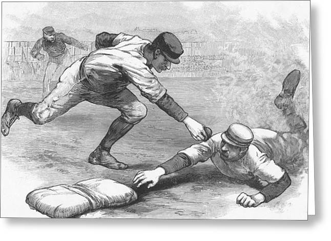 The Cincinnati Red Stockings Greeting Card by American School