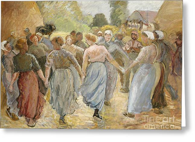 The Circle Greeting Card by Camille Pissarro