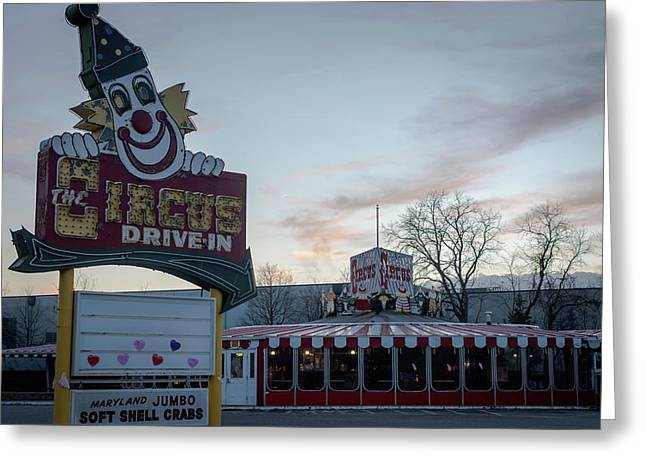 Greeting Card featuring the photograph The Circus Drive In Wall Township Nj by Terry DeLuco