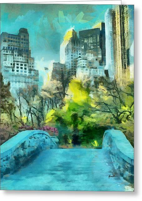 The City Greeting Card by Anthony Caruso