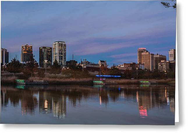 The City At Sunset Greeting Card by Phillip Burrow