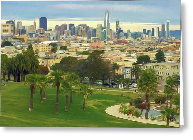 The City From Dolores Park Greeting Card