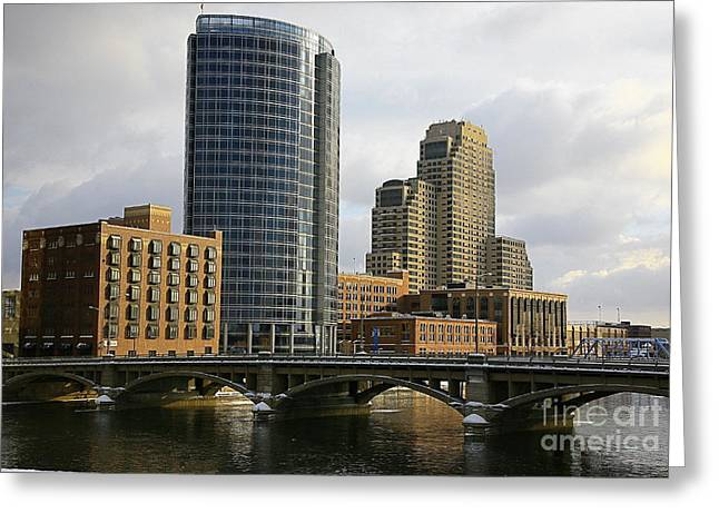 The City Grand Rapids Mi-2 Greeting Card by Robert Pearson