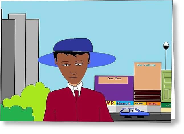 The City Greeting Card by Kiran B
