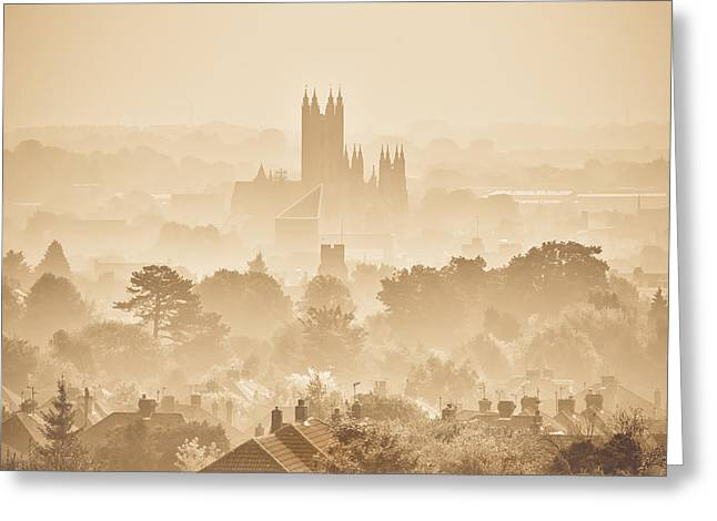 The City Of Canterbury Greeting Card by Ian Hufton