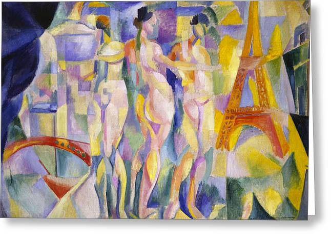 The City Of Paris Greeting Card by Robert Delaunay