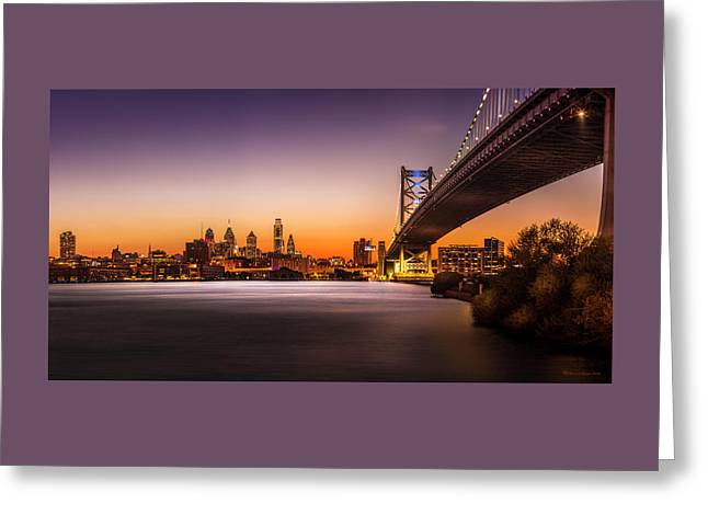 The City Of Philadelphia Greeting Card by Marvin Spates