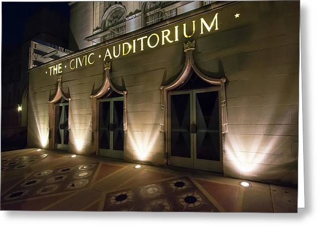 The Civic Auditorium Greeting Card