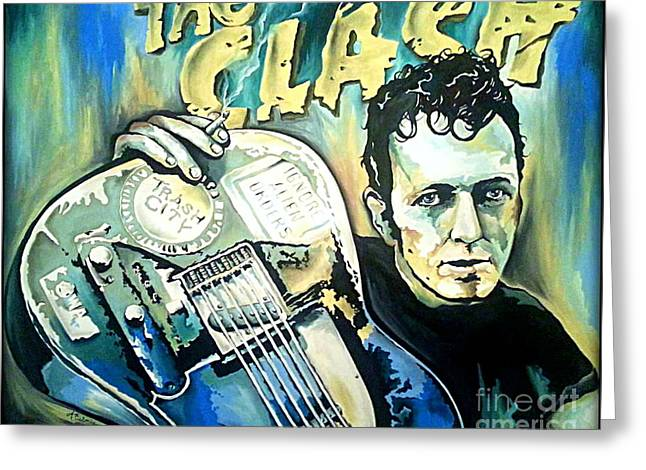 The Clash Joe Strummer Greeting Card