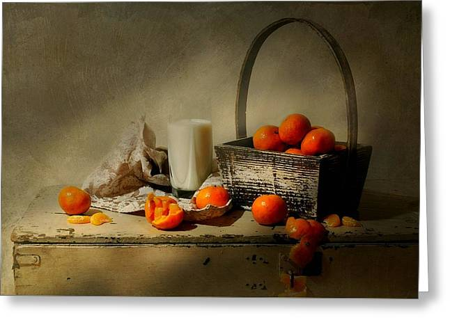 The Clementine Basket Greeting Card by Diana Angstadt