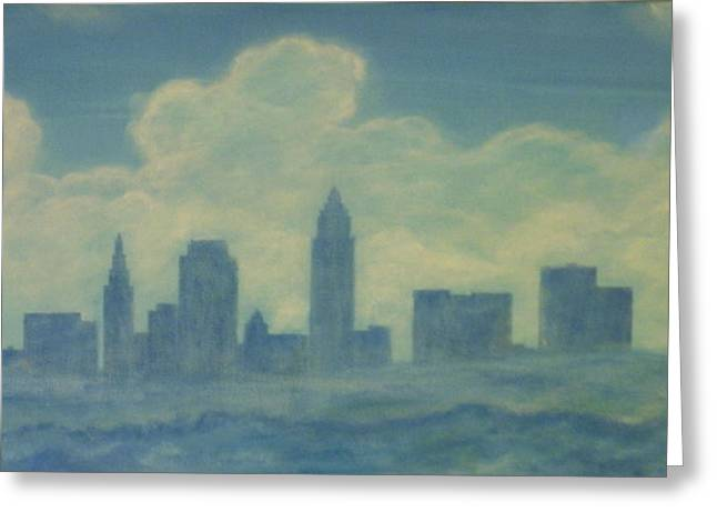The Cleveland Blues Greeting Card by James Violett II