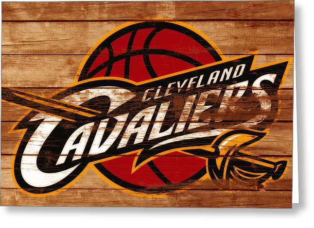 The Cleveland Cavaliers 3a      Greeting Card by Brian Reaves